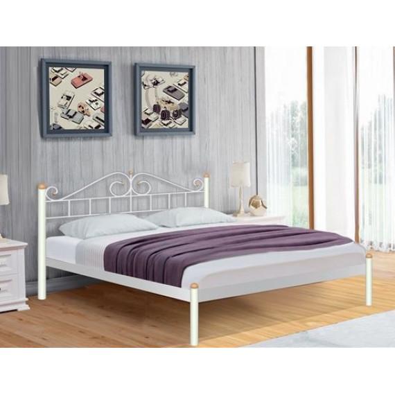Кровать Розана (120х200/металлическое основание) Белый