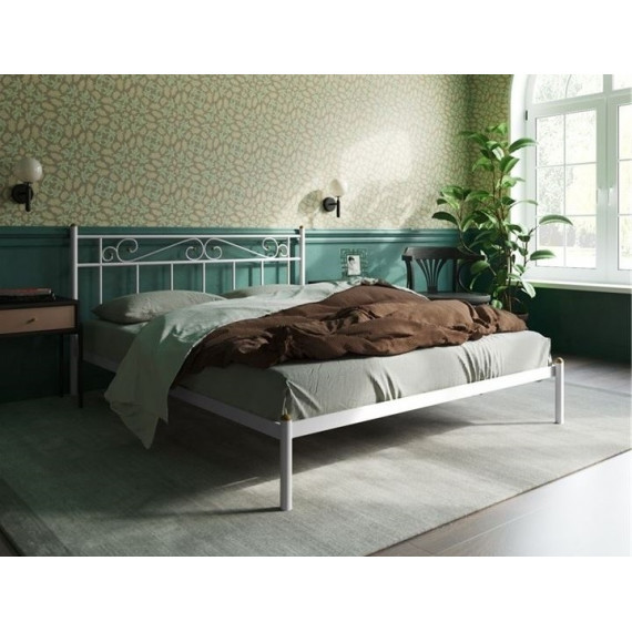 Кровать Франческа без изножья (120х200/ноги металл/цвет Белый)