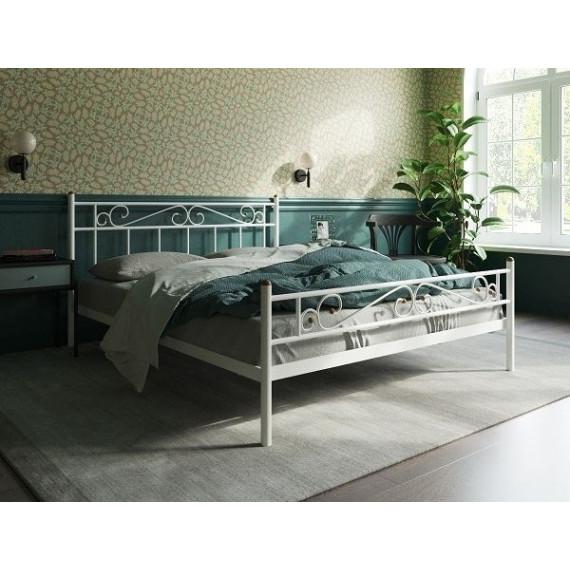 Кровать Франческа с изножьем (120х200/ноги металл/цвет Белый)