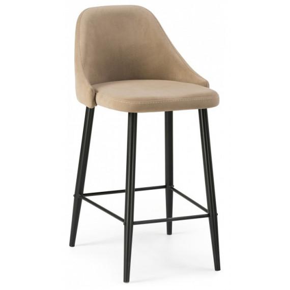 Барный стул Джама бежевый / черный матовый