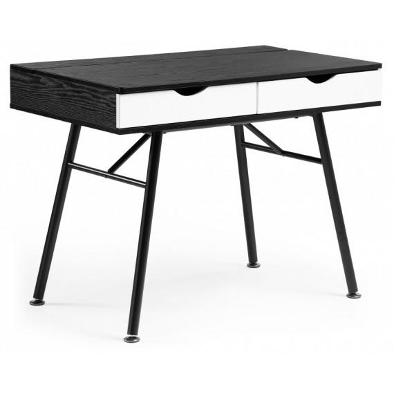 Компьютерный стол Soho black grained / white