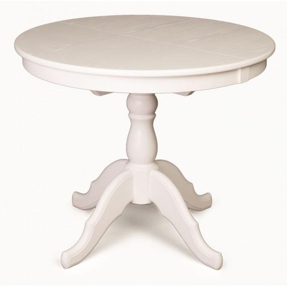 Стол обеденный Круглый-0090 (белая эмаль)