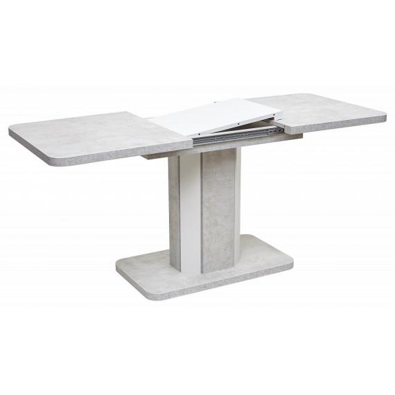 Стол STORK Белый бетон/ Белый 120