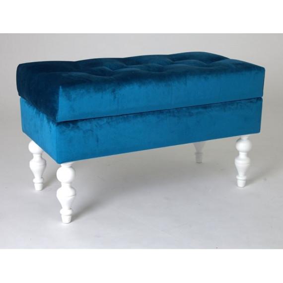 Банкетка Виктория (эмаль белая / 34 - королевский синий)