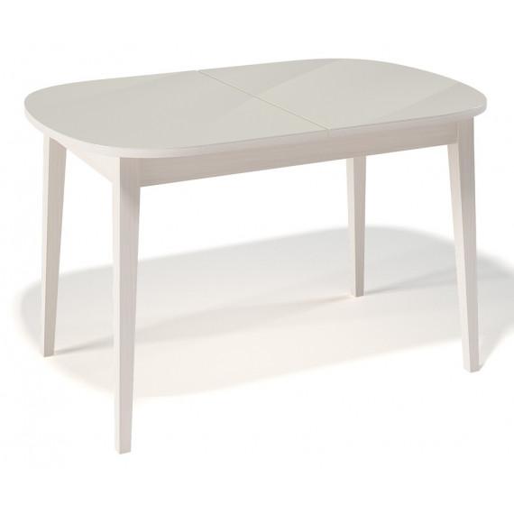 Стол 1300М крем/стекло крем
