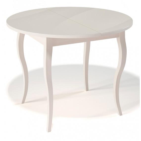 Стол 1000С крем/стекло крем