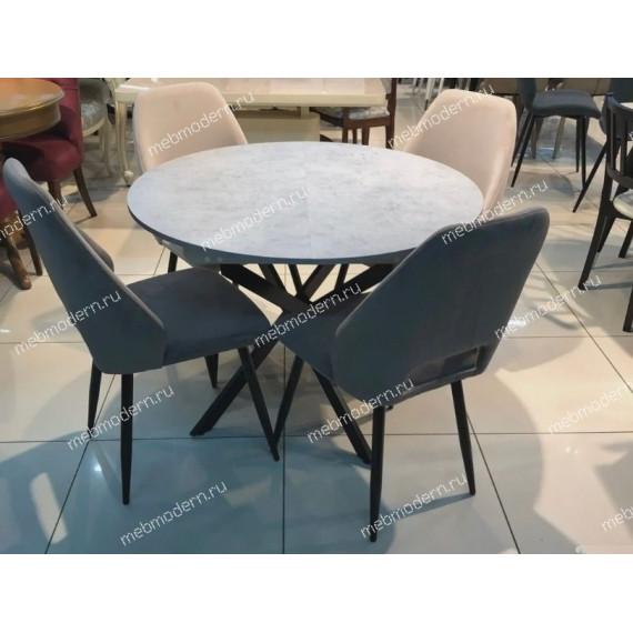 Обеденная группа Dikline RD100 бетон/стул 212 V11 серый