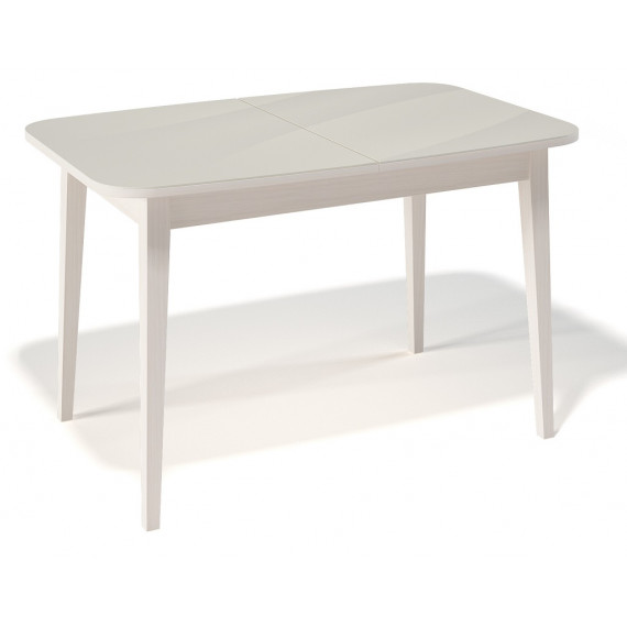 Стол 1200М крем/стекло крем
