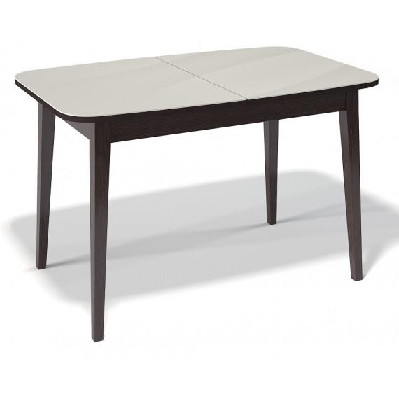 Стол 1200М венге/стекло крем