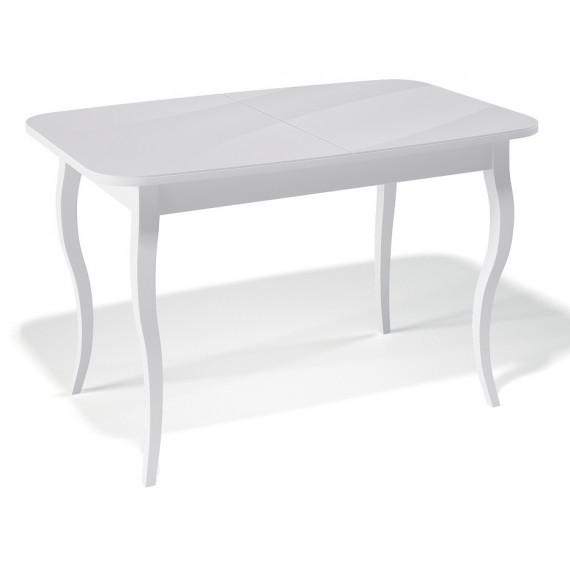 Стол 1200С белый/стекло белое