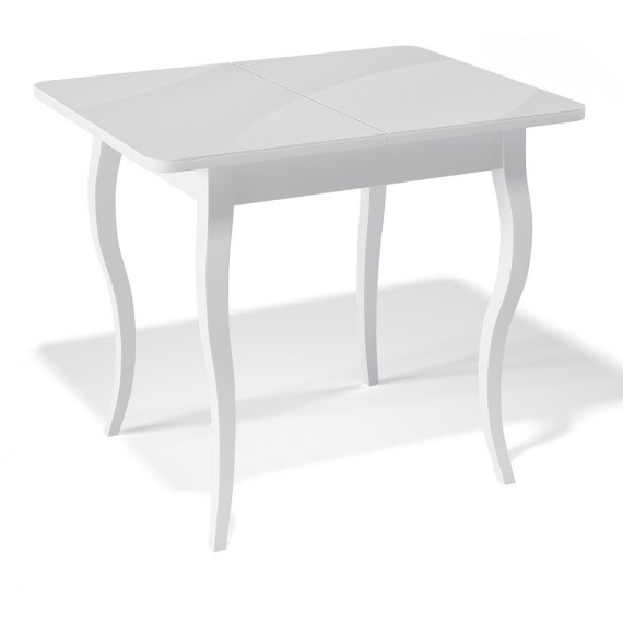 Стол 900С белый/стекло белое