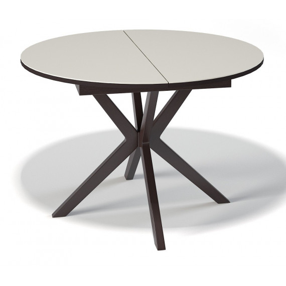 Стол B1100 венге/стекло крем сатин