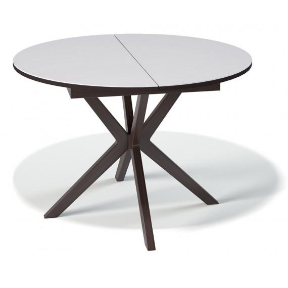 Стол B1100 венге/стекло белое глянец