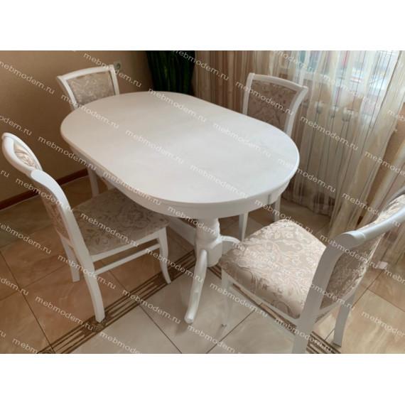 Обеденная группа Презент/М-15 белый (стол и 4 стула) тк. 37