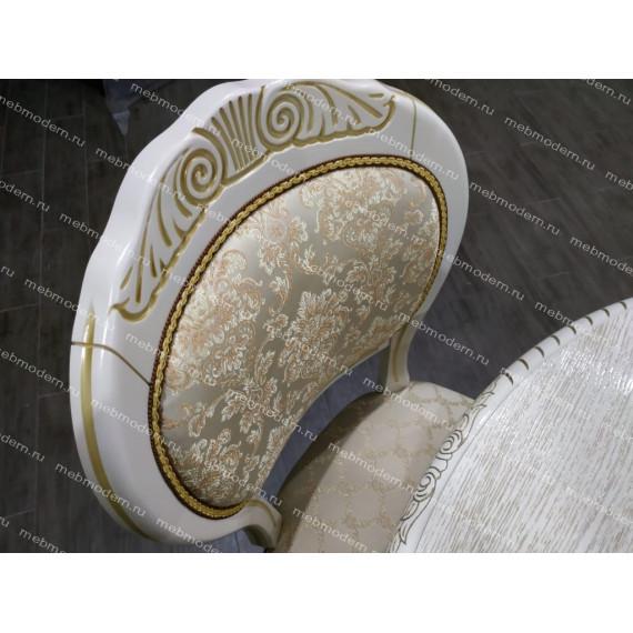 Стул С-15 слон. кость (патина золото), тк. Андрис бежевый Комби