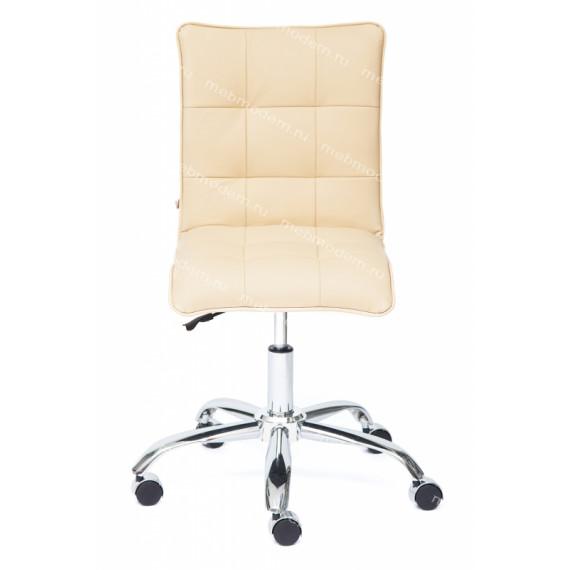 Кресло офисное TetChair «Зеро» (Zero beige) (Искусств. бежевая кожа)