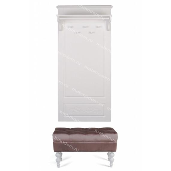 Банкетка Виктория (эмаль белая / 33 - грязно-розовый)