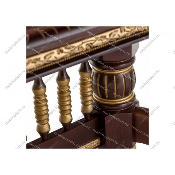 Стол Кантри орех с золотой патиной