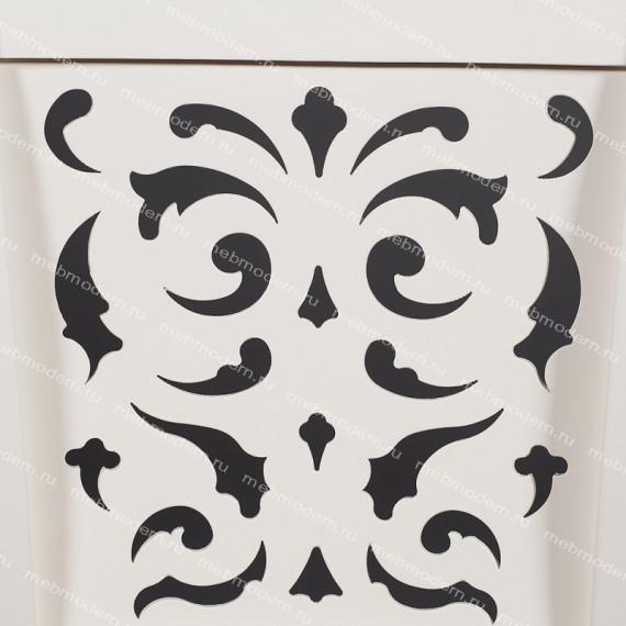 Стул Siena (SA-SC) ivory white (слоновая кость 2-5), ткань античный коричневый 004-3