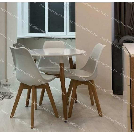 Стол 02-TD/d-80 Верди (Белый 07)