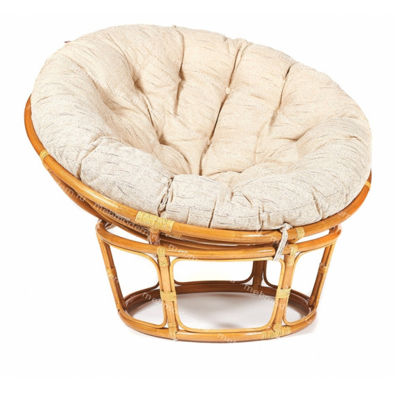 Кресло из ротанга «Папасан» (Papasan 23/01) + Подушка Honey (мед)