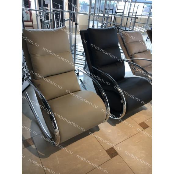 "MK-5503-BG. Кресло-качалка с пуфом ""Магнус"" бежевый"