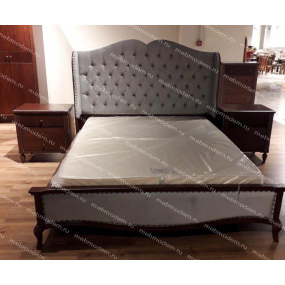 Кровать Ханна MK-6825-DNS двуспальная (цвет патины: серебро)