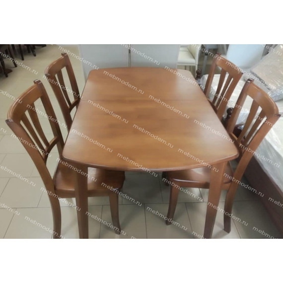 Стол ROBERTO (mod. EHR3248R+12 H4) rustic oak (дуб)
