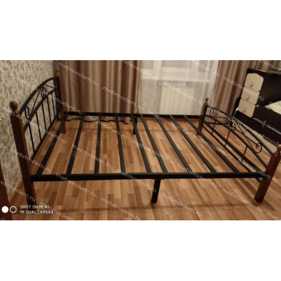 Кровать AT 8077 (метал. каркас) + металл. основание (160x200)