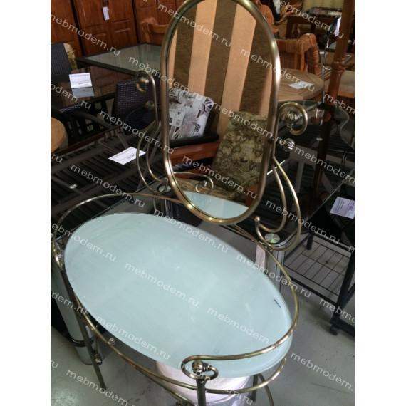 Туалетный столик с пуфиком 9909 Antique brass