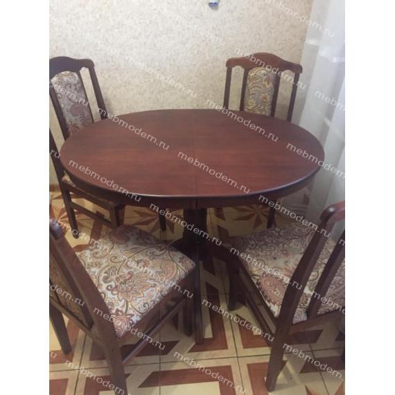 Стол обеденный овальный Романс коньяк