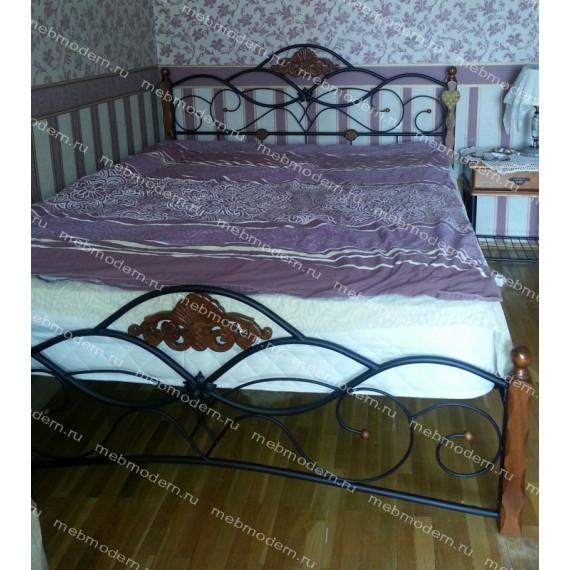 Кровать двуспальная «Канцона» (Canzona) 180х200 см + основание