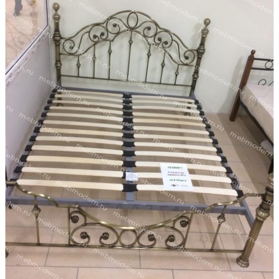 Кровать двуспальная «Виктория» (Victoria Antique Brass )+основание 160х200