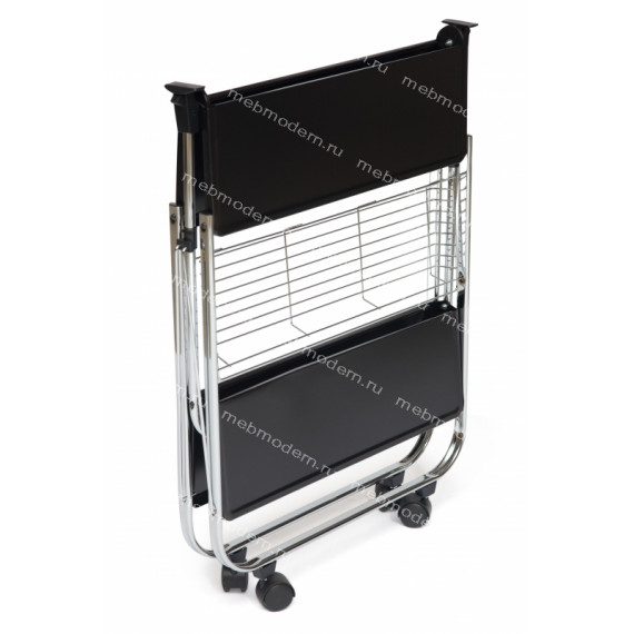 Стол сервировочный SC-5119 хром/черный