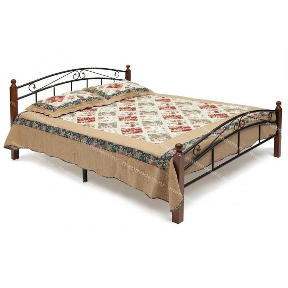 Кровать AT 8077 (метал. каркас) + дерев. основание (160)