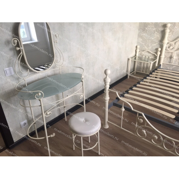 Туалетный столик с пуфиком 9909 Antique White