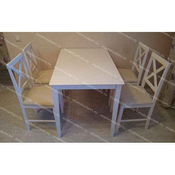 Обеденная группа «Хадсон» Hudson Dining Set pure white (белый 2-1) (HE490-01)