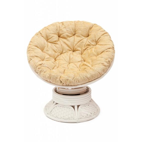 Кресло-качалка из ротанга «Андреа» (Andrea 23/01B ) + Подушка (TCH White) белый матовый