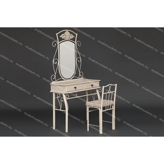 Столик туалетный Канцона CANZONA (столик/зеркало + стул) butter white