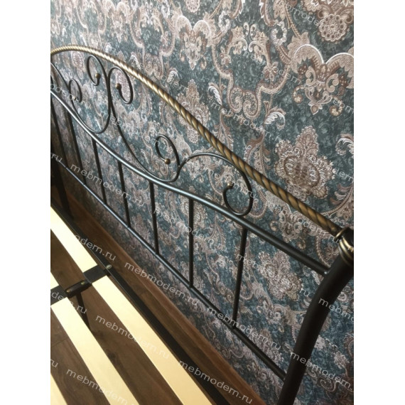Кровать Gold 160 см х 200 см черная с золотом