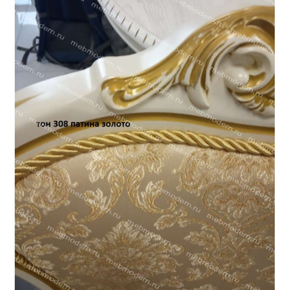Стул С-14 эмаль/патина золото ткань