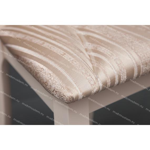Стул Opera (OP-SC) Бежевая ткань, рисунок золотистый (180-9), ivory white (слоновая кость)