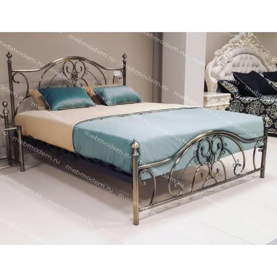 Кровать двуспальная «Элизабет» (Elizabeth) + основание 180х200 Antique Brass