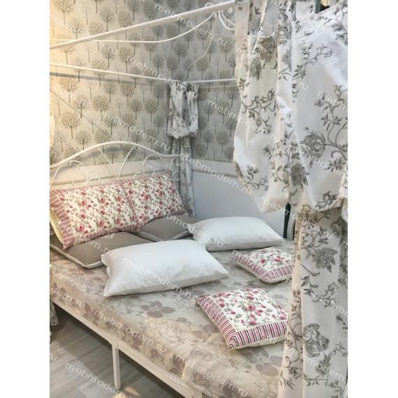 Двуспальная кровать с балдахином  «Hestia» (Хестия) (Античный белый (160 x 200 см)
