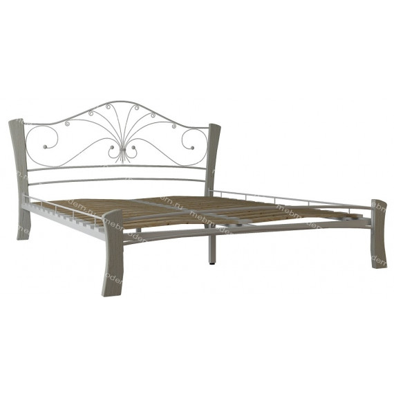 Кровать Фортуна 4 ЛАЙТ белый/белый (160х200)