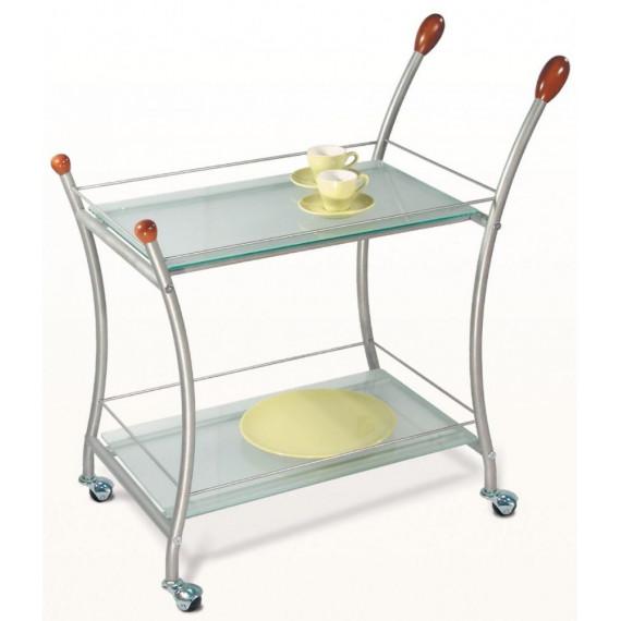 Сервировочный столик Поло металл/матовое стекло